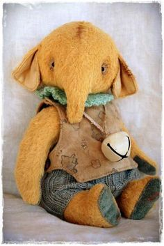 Vintage Style Mohair Elephant Lil Boy by By My Primitive Sistas | Bear Pile