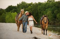 Greenwell Springs, LA (Central) engagements: Marlana & Pete   Engagement Shoot with Horses   Unique Photo  