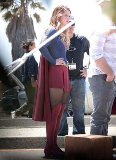 Melissa Benoist - On the set of Supergirl in Los Angeles - 18 August 2015