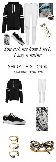"""""""by Kat Dahlia"""" by emo-penguin ❤ liked on Polyvore featuring Boohoo, River Island, Vans, Uncommon, Noir Jewelry and Marc Jacobs"""