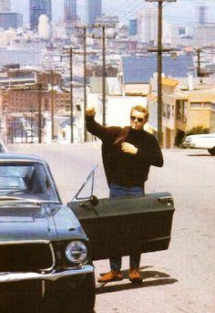 Steve McQueen in Bullitt, in San Francisco, 1968