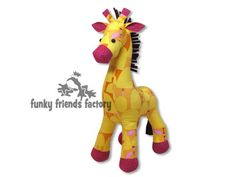 "Raff the Giraffe Plush Toy Pattern PDF INSTANT DOWNLOAD  (16""/40cm) Plush Toy Pattern PDF:    Raff is the latest addition to the Funky"