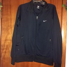 Nike❤️Jacket Nike Jacket never worn ❤️sz medium❤️100% polyester❤️two front zip up pockets❤️trades❤️please use offer button for offers via all listings ❤️thank you Nike Jackets & Coats