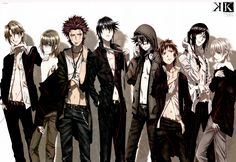 K project, homra << litterally my favorite anime this year. I want to be a member of homra. Not bc of their powers or shit, but because I,ve never seen a solidarity like that. Their link are stronger and thicker than blood, it is amazing.