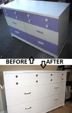 Refinished this dated inherited dresser