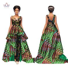 Elegant African Women Jumpsuits Maxi Sleeveless Romper And Long Dashiki Pants Pl… at Diyanu Lace Jumpsuit, Elegant Jumpsuit, African Prom Dresses, African Print Fashion, Dashiki, African Women, Jumpsuits For Women, Traditional Outfits, Gender