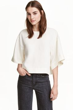 Top oversize in lyocell | H&M