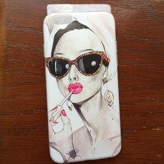 """""""Pucker up"""" phone case Clear and flexible iPhone6 4.7"""" case.  Case has glossy sides with image printed on the outside In matte.  Features girl applying lip gloss with hair towel and sunglasses. Price firm.  Bundle with others marked the same for 2 for$15 deal.  New in packaging. Accessories Phone Cases"""