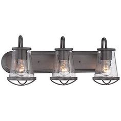 "Darby 24"" Wide Weathered Iron Bath Light - #8P910 