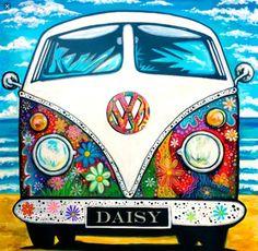 Afbeeldingen – www. Combi Hippie, Van Drawing, Bus Art, Peace Sign Art, Funky Art, Hippie Art, Arte Pop, Whimsical Art, Rock Art