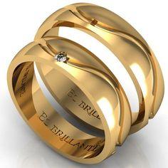 Argollas de matrimonio ARG034........ Irish Wedding Rings, Wedding Rings For Women, Wedding Sets, Rings For Men, Matching Wedding Bands, Matching Rings, Bridal Jewelry Sets, Bridal Rings, Couple Ring Design
