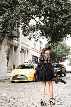 Dark Romance :: Lace polka dot dress