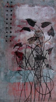 "Contrary to the Evidence, monotype by Anne Moore, 20"" X11"""