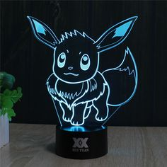 Pokemon GO Eevee 3D LED Lamp