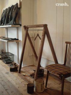 Wood Hanger アンティーク 古木 アイアン ハンガーラック 折りたたみ インテリア 雑貨 家具 Antique ¥13500yen 〆07月13日