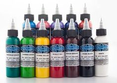 Tattoo Inks: Fusion Tattoo Ink 12 Piece Color Set Basic 1Oz Set BUY IT NOW ONLY: $109.99
