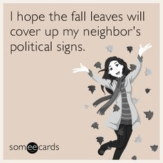 Nothing on Halloween will be scarier than this election. | Seasonal Ecard