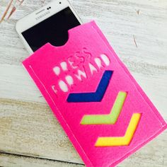LDS YW - Press Forward Theme Felt Phone Case! So Cute!! Purchase at amysbasketdesigns.etsy.com