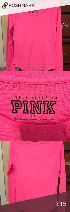 Victoria Secret PINK LongJane shirt Victoria Secret PINK collection/ Hot Pink LongJane shirt-perfect for layering PINK Victoria's Secret Tops Tees - Long Sleeve