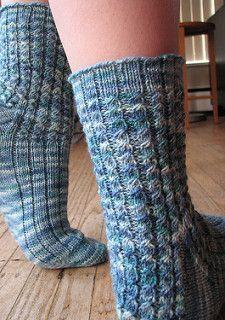 Pillars of Atlantis Sock Pattern pattern by Chrissy Graham free pattern on ravelry  340 m in 4ply