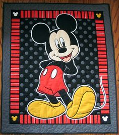 Hey, I found this really awesome Etsy listing at https://www.etsy.com/listing/233683914/mickey-mouse-quilt-disney-quilt-child