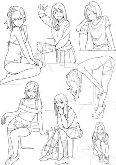 Anime with poses