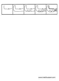 dessin dirigé d'un crocodile Pixel Art Noel, Crocodiles, Learn To Draw, Pre School, Transportation, Doodles, Bullet Journal, Math, Learning