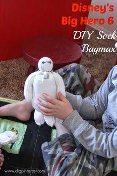 I Dig Pinterest: Disney's Big Hero 6 and DIY Stuffed Sock Baymax Craft