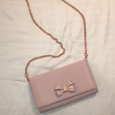 cb1c74c70477 Genuine Ted Baker Clutch bag With rose goldChain. RRP £100Used once for a  wedding