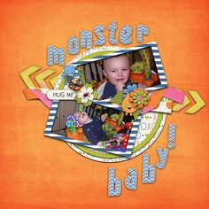 Created using:  Monster Hugs by Jen Yurko Designs  http://scraptakeout.com/shoppe/Monster-Hugs-Collection.html