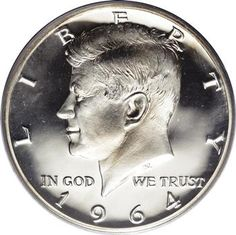 1964 Kennedy Half Dollar- I have this kept in a plastic coin cover. My uncle gave it to me the year I was born.