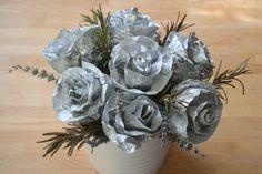 MuyVariado.com: Cómo Hacer Flores de Papel Aluminio, Paso a Paso, Manualidades Fáciles