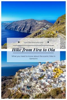 What to know when planning to hike from Fira to Oia, Santorini - www.lauraenroute.com #santorini