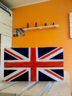 flag union jack dipinta a mano
