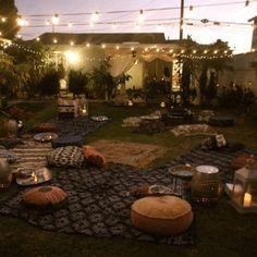 Moroccan tea party - awwwww, backyard of my dreams!