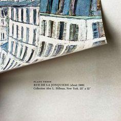 (1) Vintage Maurice Utrillo Parisian Cityscape - Rue De La Jonquiere – In The Vintage Kitchen Shop Attic Window, New York Art, Abstract Shapes, French Artists, Great Artists, Lovers Art, Home Art, Parisian, Painting Prints