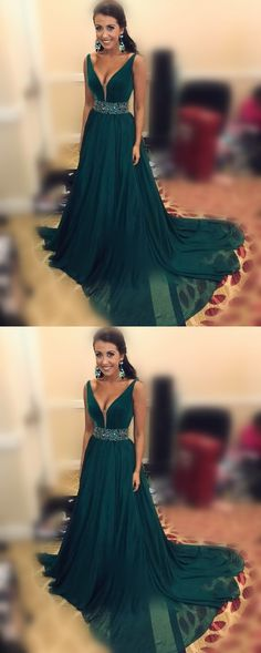 Charming Prom Dress,Chiffon Prom Dress, A-Line Prom Dress,V-Neck Evening Dress #PromDress #ChiffonPromDress #ALine #PromDress #VNeckEveningDress #CharmingPromDress #LongPromDresses #PromDresses #EveningDress #PromGowns #FormalWomenDress #Promdress
