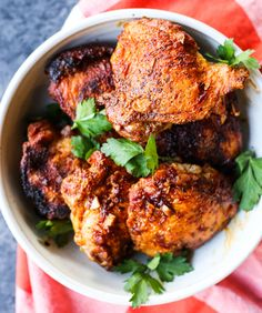 Keto Diet Recipes With Chicken Thighs 24 Easy Chicken Thigh Recipes That Are On The Keto Diet Paleo Keto Chicken Thighs With Creamy Mushrooms Sauce Lovely Life Tips Keto Fried Chicken With. Frango Tandoori, Pollo Tandoori, Tandoori Chicken, Crispy Chicken, Grilled Chicken, Paleo Chicken Recipes, Spicy Recipes, Recipe Chicken, Chicken Pasta