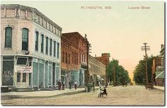 Laporte Street looking west, Plymouth, Indiana Street Look, Street View, Plymouth Indiana, In This Moment