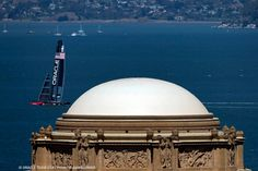 America's Cup - San Francisco 2013: view from Palace of Fine Arts Dome