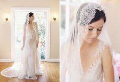 lace edged veil