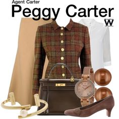 Inspired by Hayley Atwell as Peggy Carter on Agent Carter.