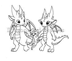 Inktober: Little Dragon Family by DragonsAndBeasties on DeviantArt Little Dragon, Baby Dragon, Cute Coloring Pages, Coloring Books, Fantasy Dragon, Fantasy Art, Cute Dragon Drawing, Dragon Family, Dragon Coloring Page