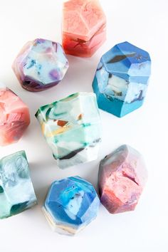 DIY your Christmas gifts this year with GLAMULET. they are compatible with Pandora bracelets. DIY soap rocks from DIY in PDX (and other DIY holiday gift ideas that don't suck) Diy Soap Rocks, Craft Tutorials, Diy Projects, Hair Tutorials, Diy Beauté, Easy Diy, Diy Cadeau, Do It Yourself Inspiration, Diy Inspiration