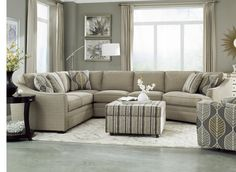 Craftmaster F9 Custom Collection <b>Customizable</b> 3-Piece Sectional with LAF Cuddler - Hudson's Furniture - Sofa Sectional Tampa, St Petersburg, Orlando, Ormond Beach
