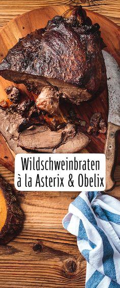 Roast wild boar from Asterix & Obelix-Wildschweinbraten von Asterix & Obelix Roast wild boar from Asterix & Obelix recipe – REWE.de www. Louisiana Seafood, Louisiana Recipes, Cajun Recipes, Meat Recipes, Drink Me, Food And Drink, Easy Cooking, Cooking Tips, Asterix Y Obelix
