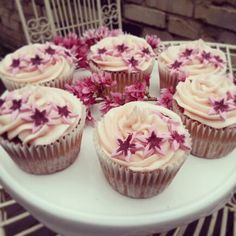 Summer plum cakes with blossom Plum Cake, Cupcakes, Desserts, Summer, Food, Prune Cake, Tailgate Desserts, Cupcake, Meal