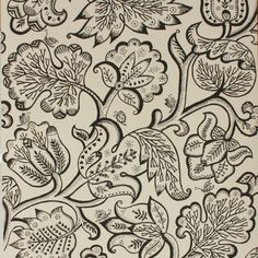 Ceilia Birtwell: Jacobean Wallpaper Charcoal