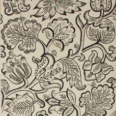 Ceilia Birtwell: Jacobean Wallpaper Charcoal