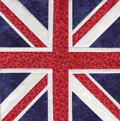 The Union Jack Paper Pieced - downloadable pattern